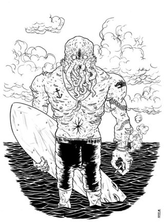 Cthulhu is a surfer, de Juscelino Neco
