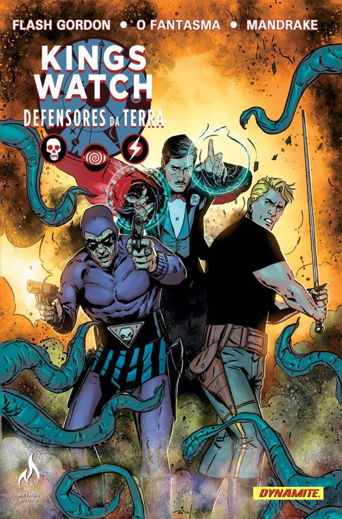 Kings Watch: Defensores da Terra - O Fantasma! Mandrake, o mágico! Flash Gordon!