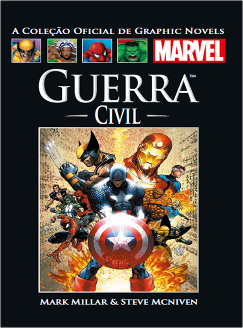 Coleção Oficial de Graphic Novels Marvel vol 50: Guerra Civil, de Mark Millar