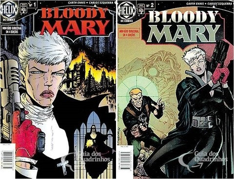 Pack Blood Mary Vol 1 e Vol 2, de Garth Ennis - Minissérie Incompleta
