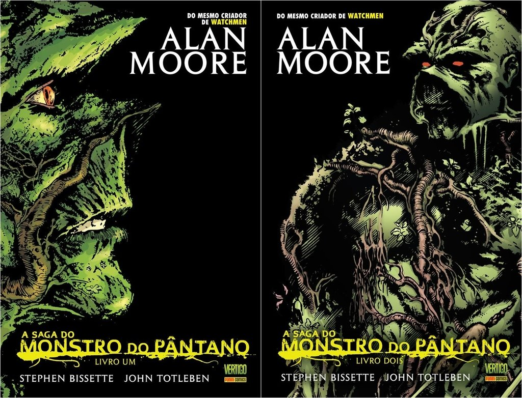 Pack Monstro do Pântano vol 1 e 2, de Alan Moore