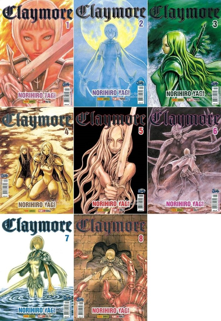Pack Claymore vol 1 a 8 e 11