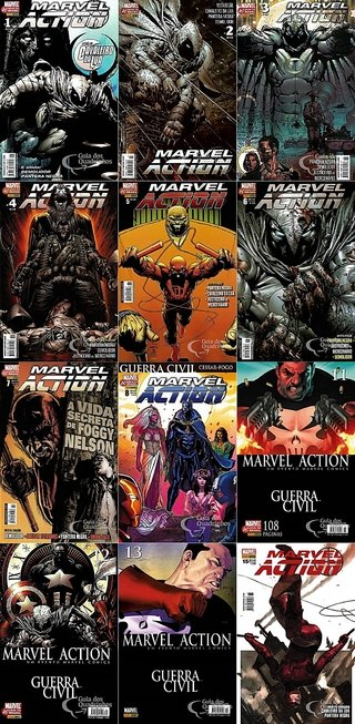 Pack Marvel Action vol 1 a 8, 11 a 15