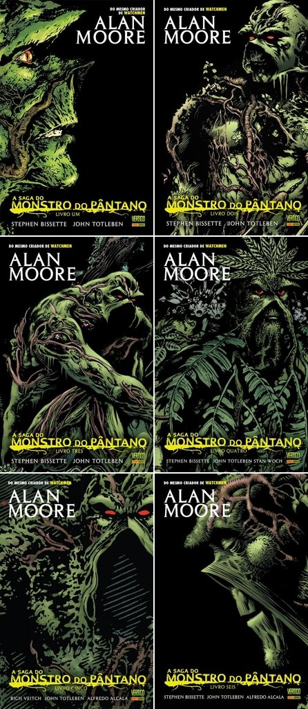 Pack Monstro do Pântano, de Alan Moore - 6 edições