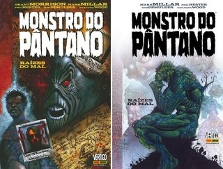 Pack Monstro do Pântano: Raízes do Mal vol 1 e 2, de Grant Morrison e Mark Millar