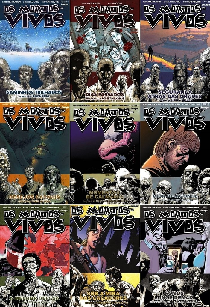 Pack Os Mortos-Vivos - volumes 1 a 15
