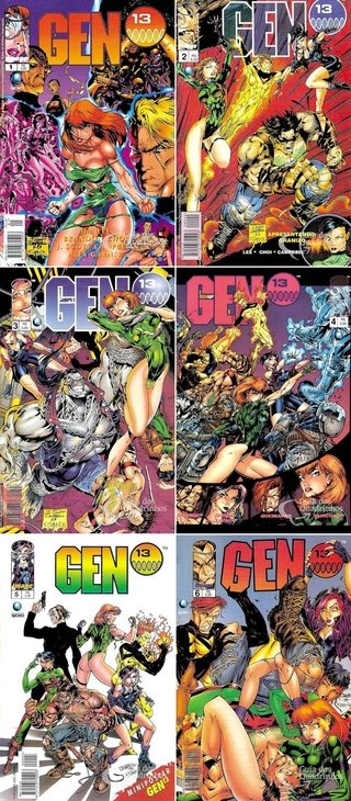 Pack Gen 13 nº 1 a 6, de Jim Lee e J. Scott Campbell