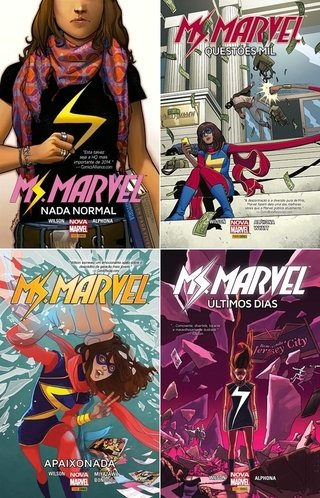 Pack Ms Marvel, de G. Willow Wilson - 4 edições - Capa Cartonada