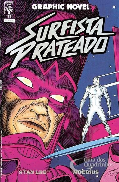 Surfista Prateado (Parábola) - Graphic Novel n° 11, de Stan Lee & Moebius