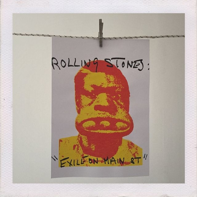 POSTER THE ROLLING STONES EXILE ON MAIN ST. (THREE BALL CHARLIE) - comprar online