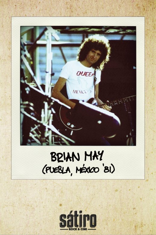 REMERA BRIAN MAY - QUEEN MEXICO `81 (STR030) - comprar online