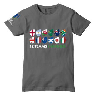 Remera Adulto World Rugby U20 Championship 12 Paises