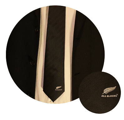 Corbatas All Blacks rugby