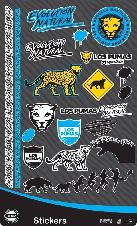 Stickers Los Pumas - plancha fan