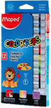 Témpera Maped x 12 colores