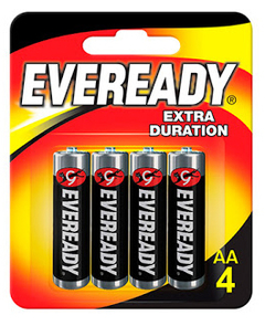 Pilas Eveready AA x 4 unid