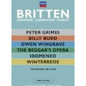 Benjamin Britten: The Historic BBC Films: Peter Grimes - Billy Budd - Owen Wingrave - Idomeneo - Winterreise - The Beggar´s Opera (6 DVDs)