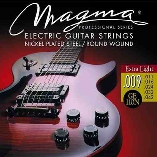 Cuerdas para guitarra eléctrica - Magma - GE11ON - Nickel - 009
