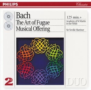 Bach - The Art of Fugue - Musical Offering - Neville Marriner ( 2 CDs )