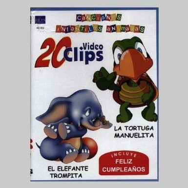 Canciones infantiles animadas - 20 video clips - DVD