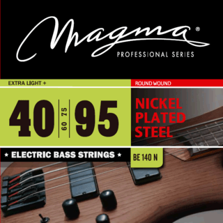 Cuerdas para bajo eléctrico - Magma - BE140 N - Nickel Plate Steel - Extra Light +