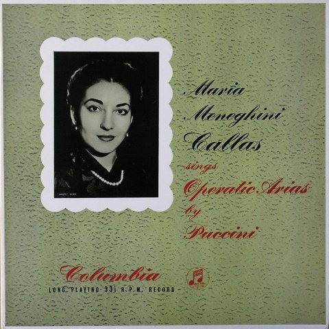 Maria Meneghini Callas sings Operatics Arias by Puccini - CD