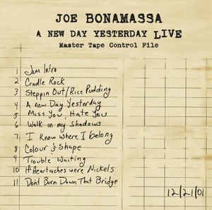 Joe Bonamassa - A new say yesterday live - Vinilo