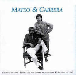 Mateo & Cabrera - En vivo - Montevideo 1987 - CD