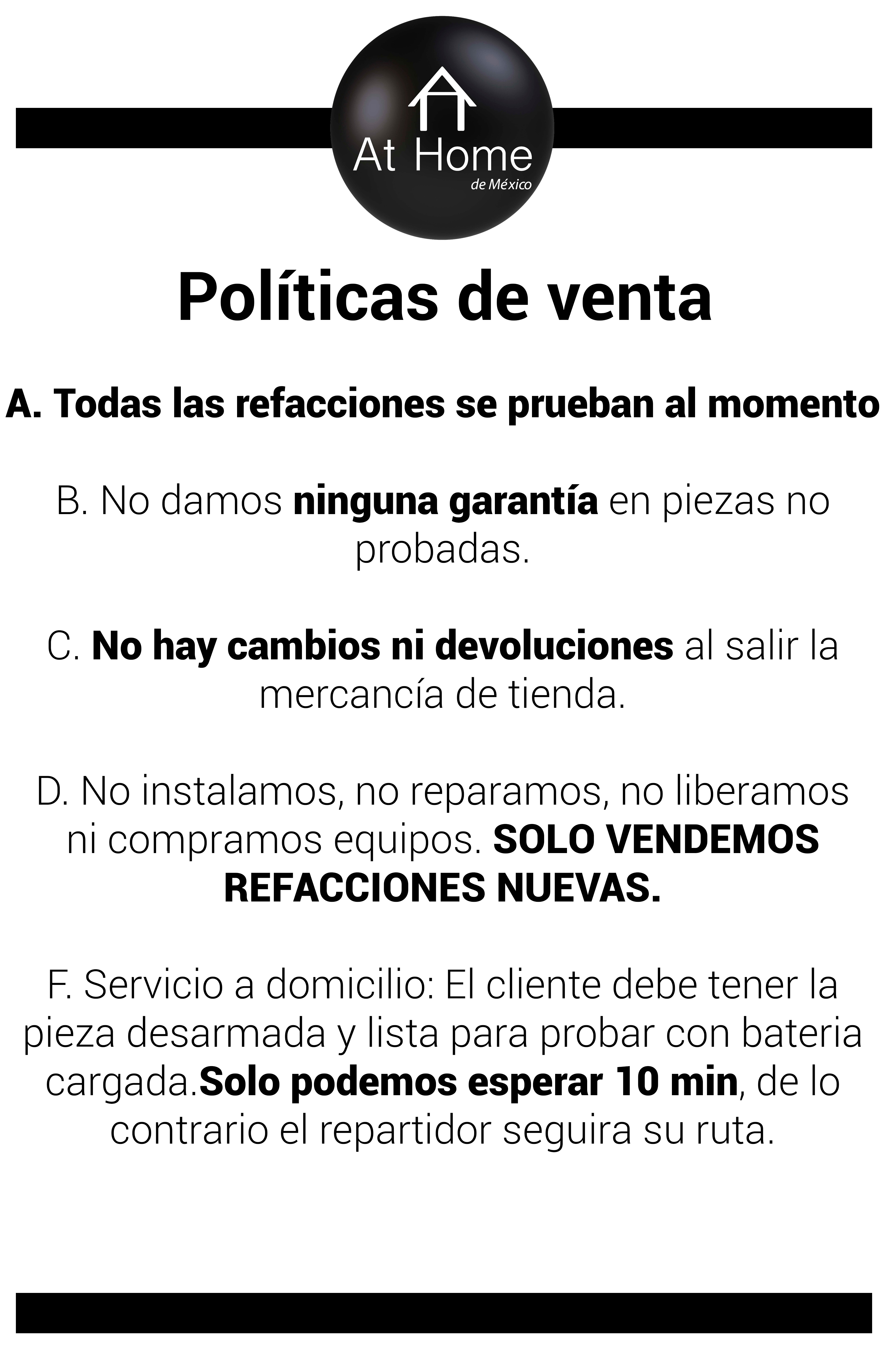 Políticas de Venta Garantía f5990df40f