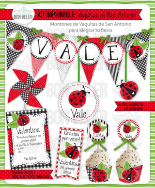 VAQUITA SAN ANTONIO · kit imprimible personalizado · candy bar en internet