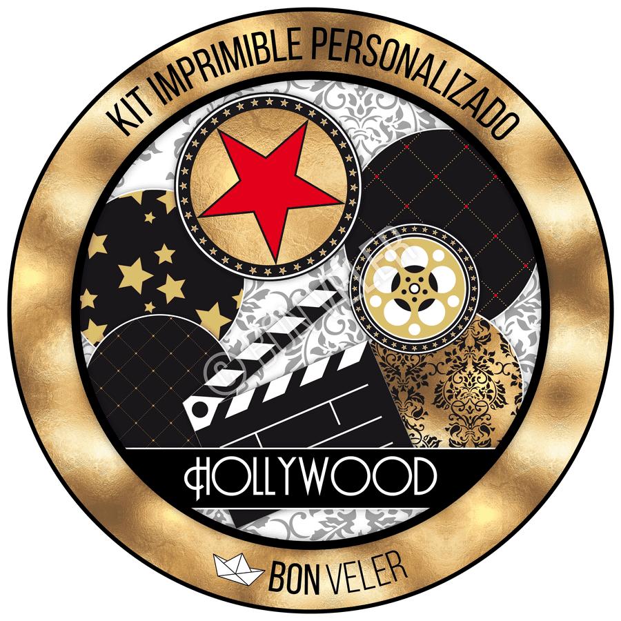 Kit Imprimible Personalizado Hollywood Etiquetas Candy Bar