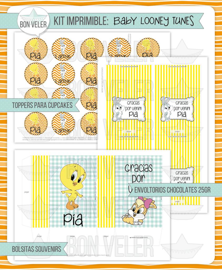 Kit Imprimible Baby Looney Tunes