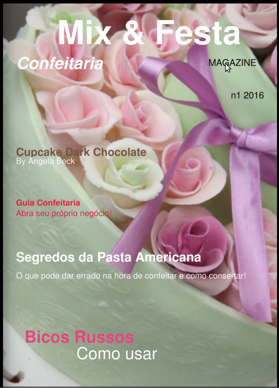 Revista digital Mix e Festa - Confeitaria (n°1)
