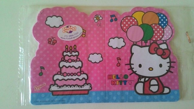 Convite Hello Kitty c/ 8 unids Regina