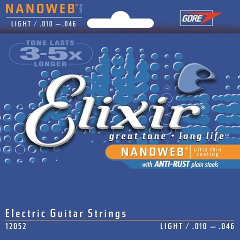 Encordoamento para guitarra Elixir Nanoweb 12052 / 0,10 BLACK FRIDAY!!!