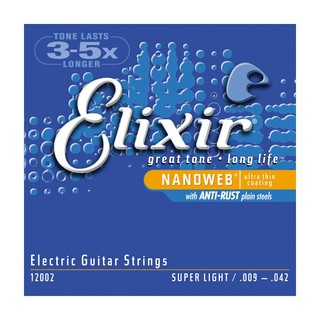 Encordoamento para guitarra Elixir nanoweb 12002 / 0,09  BLACK FRIDAY!!!