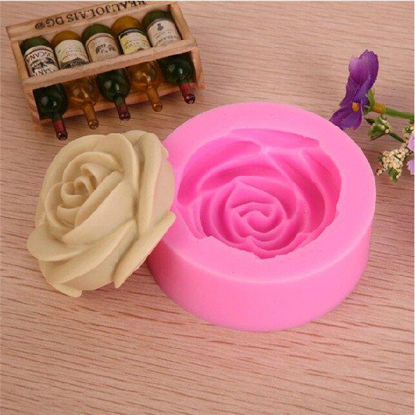 Molde De Silicone Rosa Para Pasta Americana