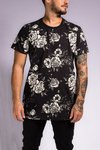 T SHIRT FLOWER (BLACK)