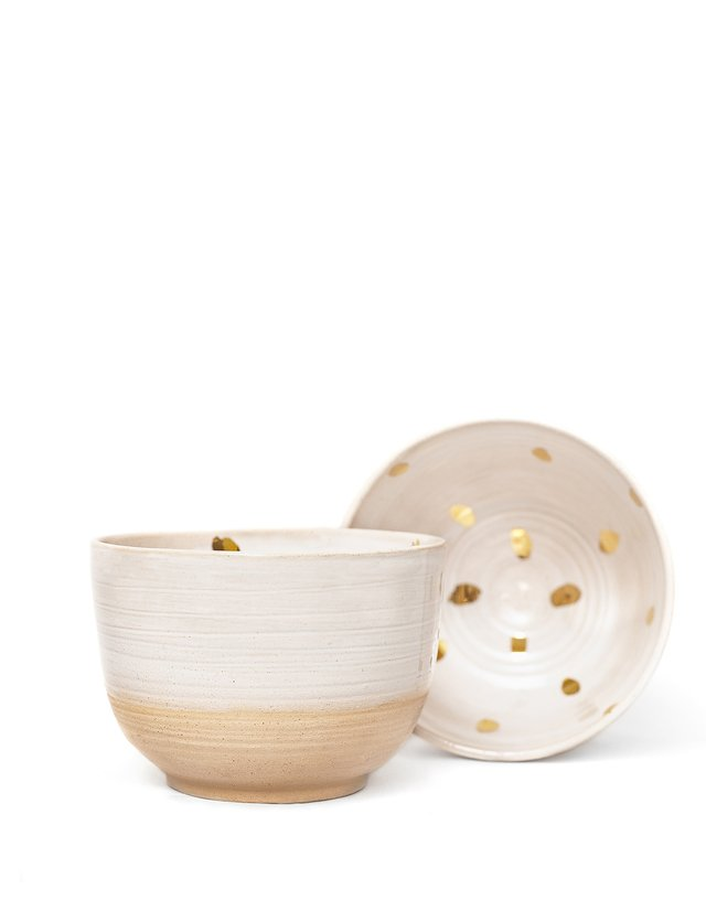 BOWL CHICO GRES ORO