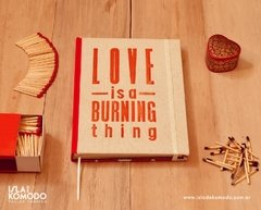 LOVE is a burning thing en internet