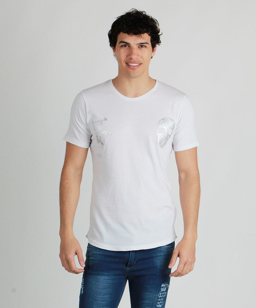 REMERA SKULL ROSE BLANCO