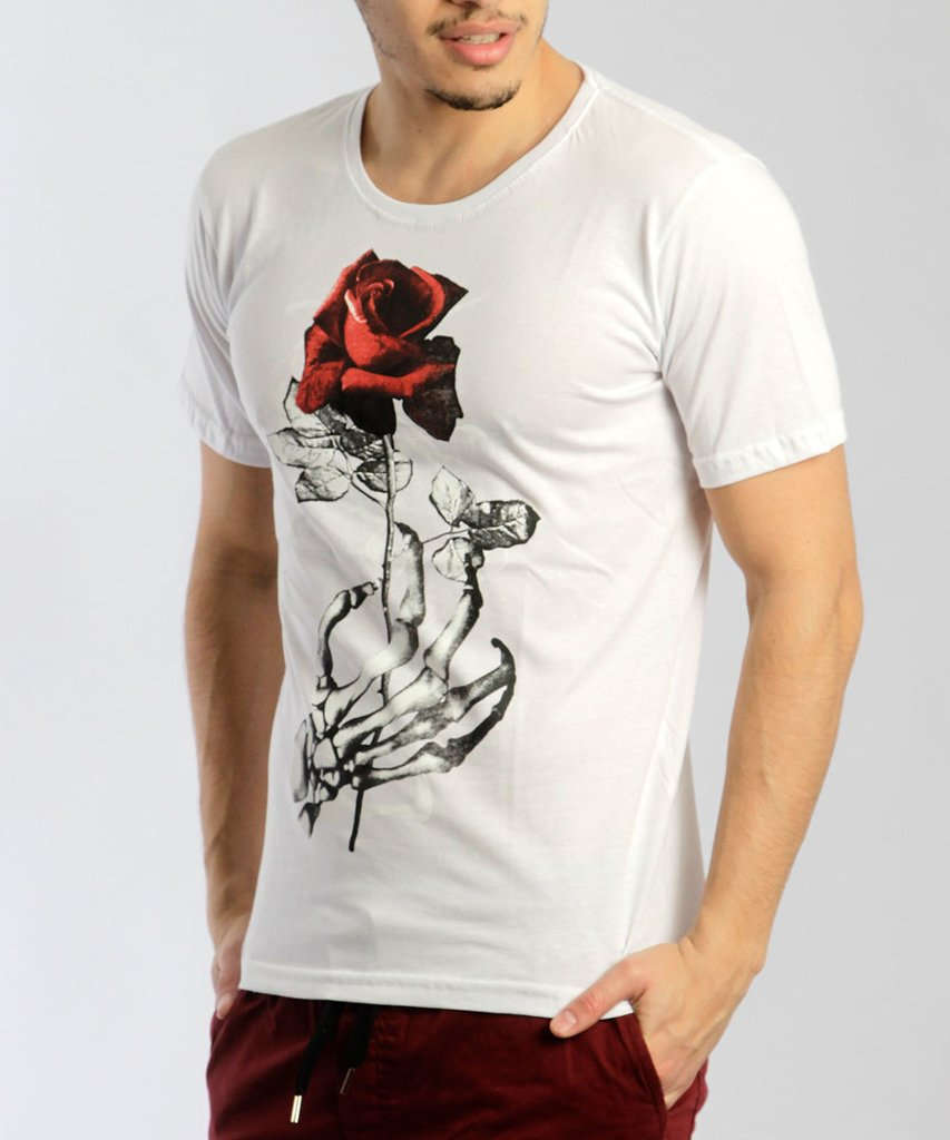 REMERA ROSE BLANCO