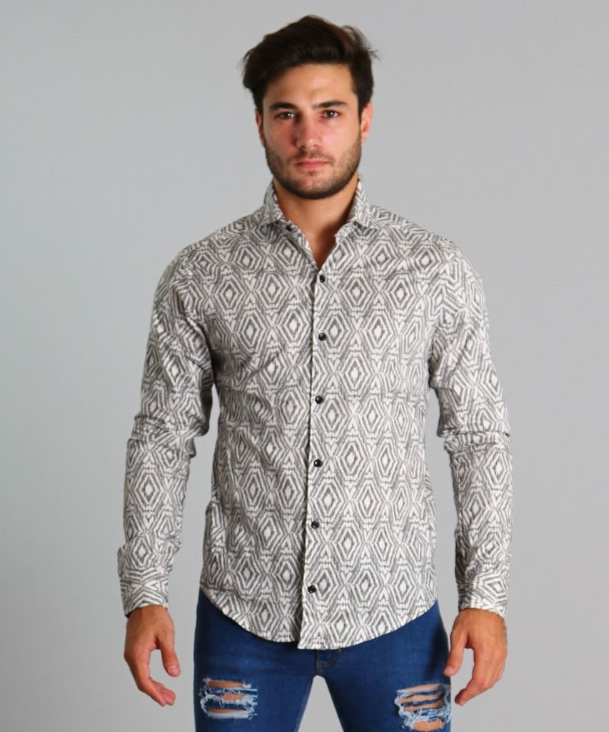 CAMISA DIAMOND BLANCO
