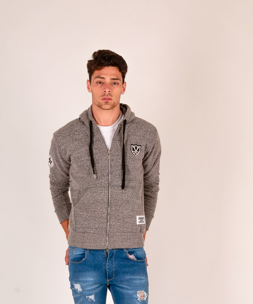 CAMPERA BADGE GRIS NEVADO