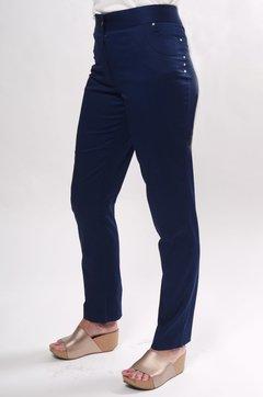 Pantalón gabardina de algodón elastizado c bolsillos y detalles de tachas. 367b9d7874bf