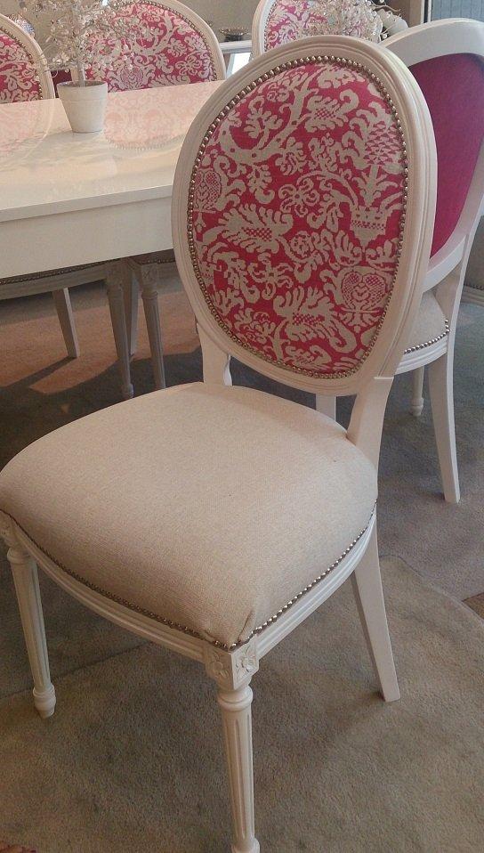 Sillas luis xvi comprar en simonetto muebles for Sillas acolchadas precio