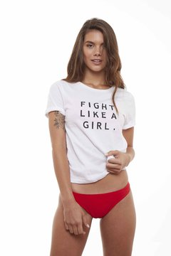 Remera * Fight Like a Girl *  100% Algodón