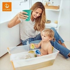 Banheira Flexível  Com Plug Térmico / Heat Sensitive - Flexi Bath Stokke - Oikos Baby