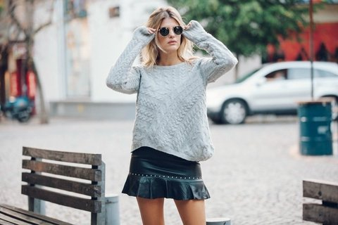 Sweater Lovely gris