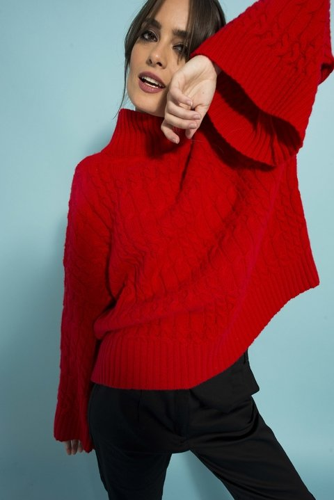 Sweater Cheerfull rojo